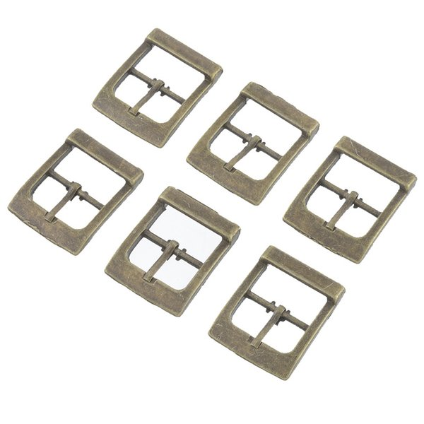 DIY Apparel Sewing Fabric Hooks Hoomall Brand 10PCs Shoes Buckles Belt Buckles Metal Shoe Accessories Bronze Tone 33x27mm