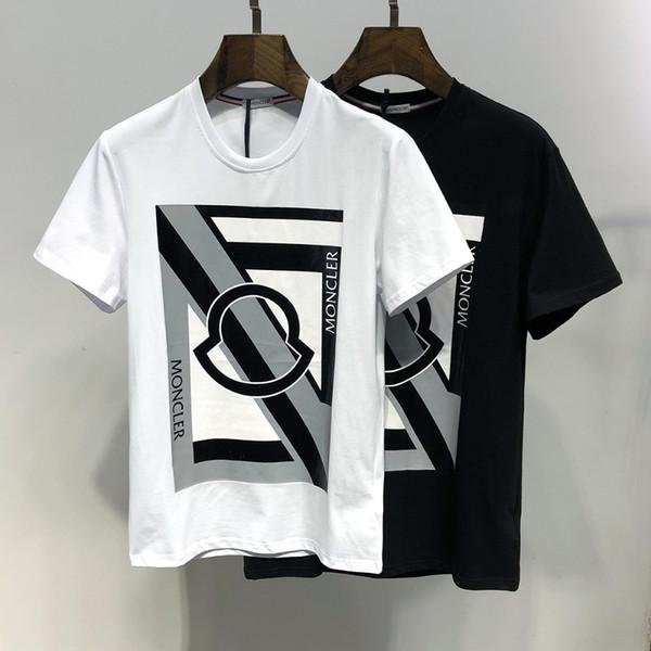 Chocante priceMen's Verão Em Torno Do Pescoço T-Shirt de Algodão Confortável Respirável Selvagem Clássico Nova Manga Curta