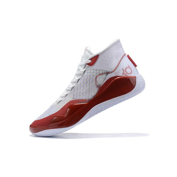 cheap men kd 12 basketball shoes for sale White University Red Pink Blue Grey new high tops kd12 kevin durant xii sneakers tennis with box