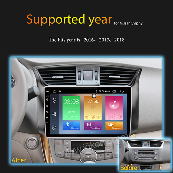 IPS 2 5D 2GB Ram 32GB Rom 10 1 Inch Android 8 1 Car DVD GPS Radio 4G DSP  For Nissan Sylphy 2017 2018 Car Radio Head Unit Portable Dvd Price Portable