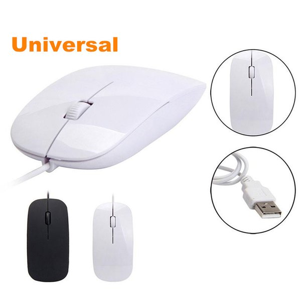 Universal 1200dpi Wired Optical Mouse Ultra Slim High Quality Mice USB for PC Laptop Macbook Apple Desk Top Tablet Computer 100pcs up