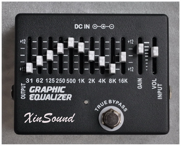10 +2 Band Equalizer EQ Guitar Effects Pedal XinSound EQ-99 by Handmade Graphic Equalizer
