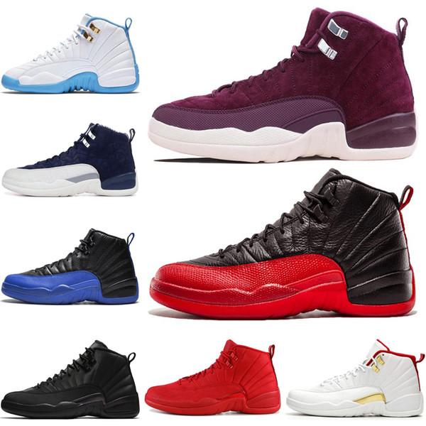 VENTE CHAUDE Chaussures de basket-ball 12 12s Hommes Chaussure DOERNBECHER FIBA Reverse Taxi Jeu De La Grippe Français Bleu UNC Hommes Formateurs Sneakers Sports En Plein Air 7-13
