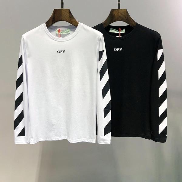 T-shirt à manches longues imprimé en coton de haute qualité imprimé à l'automne 2019 # 5105