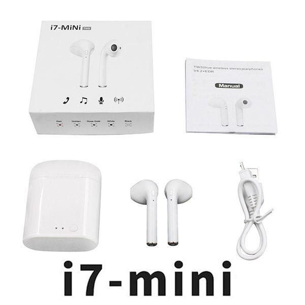 HBQ i7 Twins Wireless Earbuds earphone Mini Bluetooth V4.2 Stereo headphones earphones For Iphone X 8plus 7 6s 6 plus