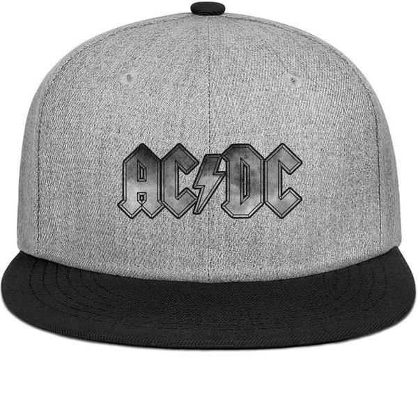 ACDC back in black Vintage old for men and women flat brim hats black snapback cool custom hats custom kids make your own fashion plain retr