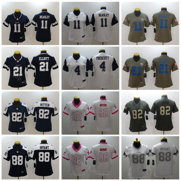 best loved 31a1a d97c2 Women Dallas Cowboys Jerseys 82 Jason Witten 88 Dez Bryant 11 Cole Beasley  Lady Woman Football Blue White Thanksgiving UK 2019 From Vip_sport, UK ...