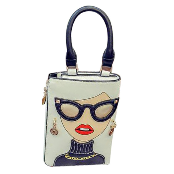 New Style Sex Woman Fashion Pattern Earrings Decorated Female Totes Ladies Shoulder Bag Crossbody Messenger Bag Casual Handbag
