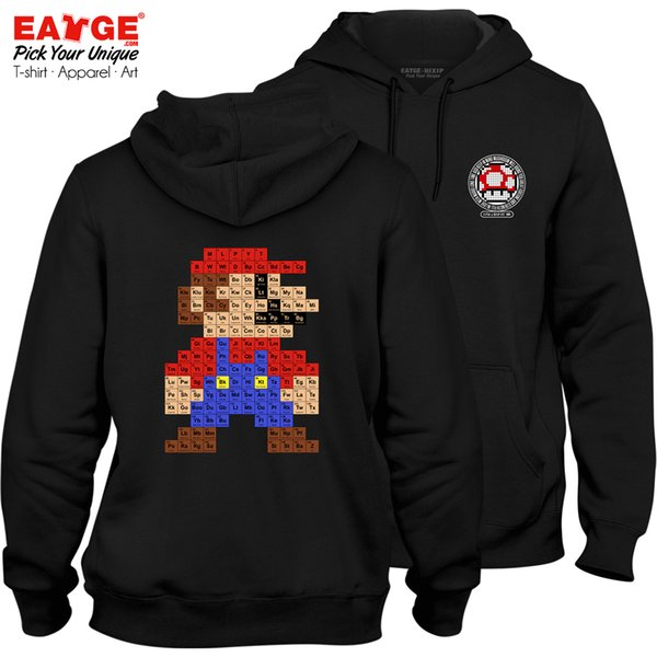 I Am A Chemical Super Mario Fleece Hoodies Geek Punk Programmer Rock Video Game Pop Novelty Funny Women Men Sweatshirts