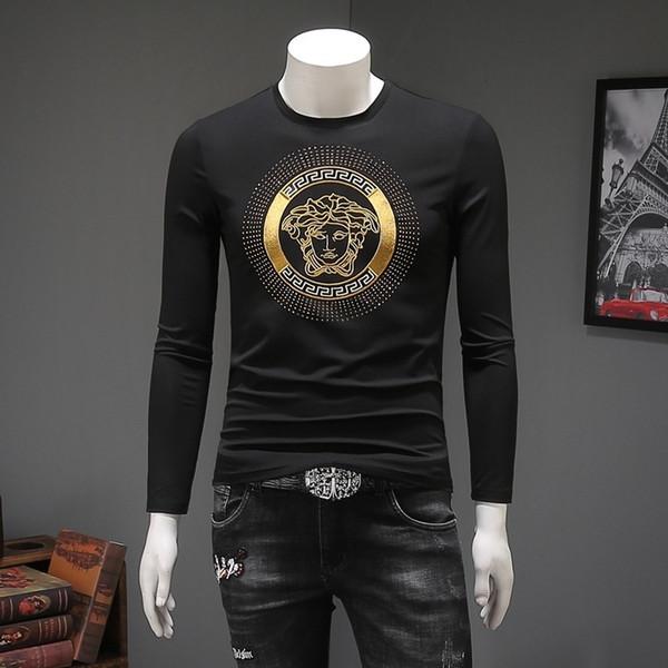 T-shirt a maniche lunghe da uomo best seller 2019 Belle magliette a maniche lunghe raffinate e alla moda
