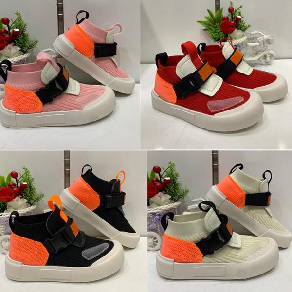 TD Viale Knitted Kids Scarpe da corsa comode Slip on Neonati Bambina Allenatori Scarpe per bambini Pantofole Sneakers