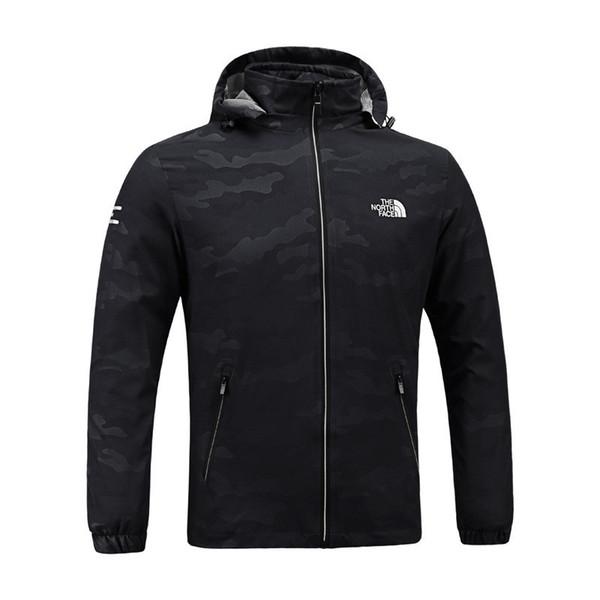 top popular The North Mens Designer Jackets Spring Autumn Fall Coat Outdoor Sports Hooded Face Windbreaker Coats Zipper Camo Hoodie Plus Size C8703 2019