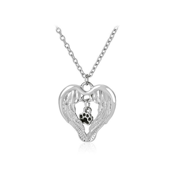 2019 Support Wholesale European Ornaments New Product Originality Hollow  Out Love Pets Dog Paw Necklace Pendeloque Cut From Lzh1, $1 46   DHgate Com