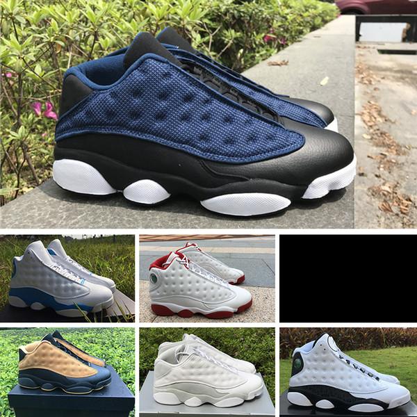 sports shoes 3acb3 590f7 Alta Calidad 13 Bred Chicago Flints Hombres Zapatillas De Baloncesto 13s  DMP Dedo Gris Historia De Vuelo All Star AIR Sneakers XIII Por Zhiseakers,  ...