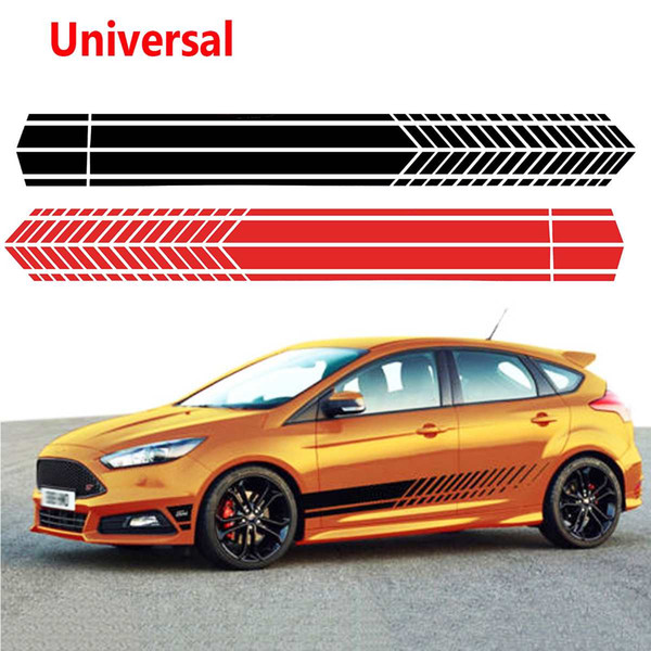 Universal Sports Racing Stripe Graphic Stickers Truck Auto Car Body Side Door Decals