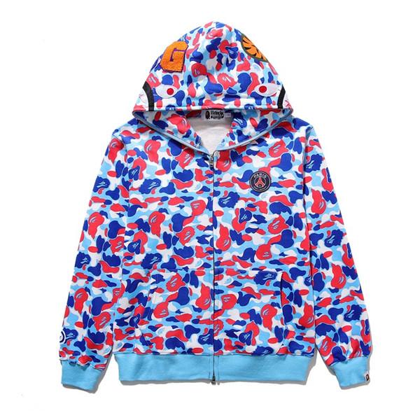 2019 Herbst Winter Neue Streetwear Fashion Cardigan Zipper Hoodie Sweater Herren Lila Camo Beiläufige Hoodies Jacke