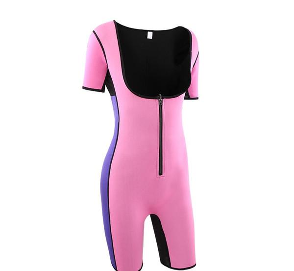 Moda Mujer Body Diseño de cremallera Ropa de cuerpo de una pieza Levantamiento de glúteos Abdomen Cofre Belleza Body Curve Ropa