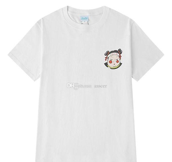 2019 Горячие мужские продавая конструктор футболки Hip Hop Luxury Tee Casual Комфортная мультфильм печати с коротким рукавом для мужчин женщин