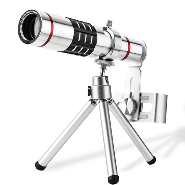 18X Telescope Zoom optical Mobile Phone Lens for iPhone Samsung Smartphones universal clip Telephoto Camera Lens with tripod