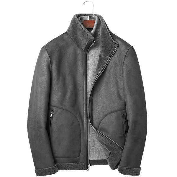 Real Fur Coat Winter Jacket Men Real Sheep Shearling Fur Wool Coat Men Double-side Wear Leather Jackets Chaqueta Hombre MY1974