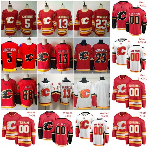 2019 Custom Calgary Flames Red Third White Jersey Any Number Name Men Women Youth Kid Gaudreau Monahan Tkachuk Neal Giordano 11 Jakob Pelletier From Cheap Hot Jerseys 40 61 Dhgate Com