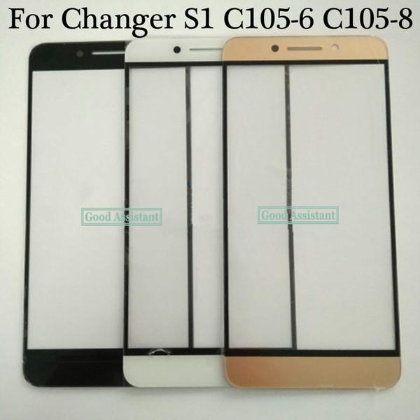 Para LeTV Coolpad Trocador S1 C105 C105-6 C105-8 Parte Externa Externa Lente de Vidro Reparação Touch Screen Outer Vidro (Sem cabo)