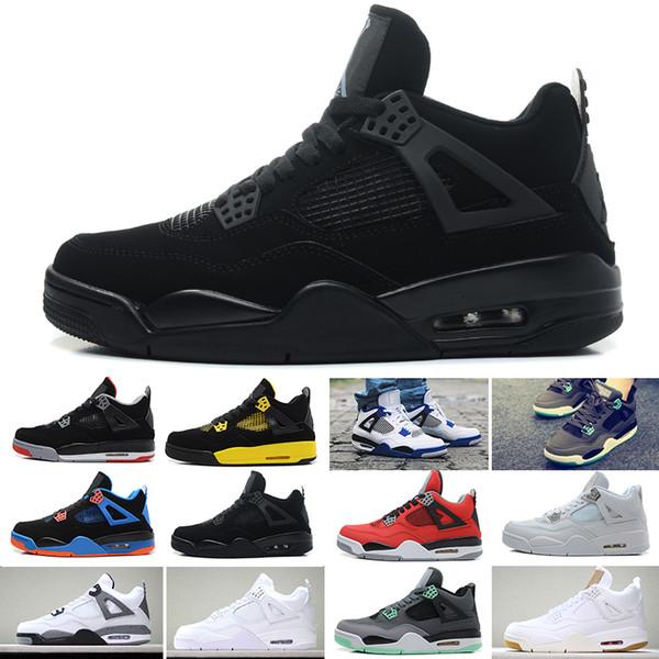 Acheter Nike Air Jordan 4 2019 New Classic 4 4s Toro Bravo Pack Peur Blanc Ciment Hommes Chaussures De Basket Ball Baskets Avec La Boîte De Haute
