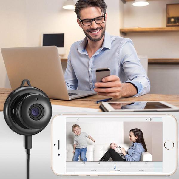 WIFI caméra sans fil noir 360 Panorama 720P stockage en nuage Smart Home Security WiFi IP 1.8mm / 3.6mm Lentille Vente chaude