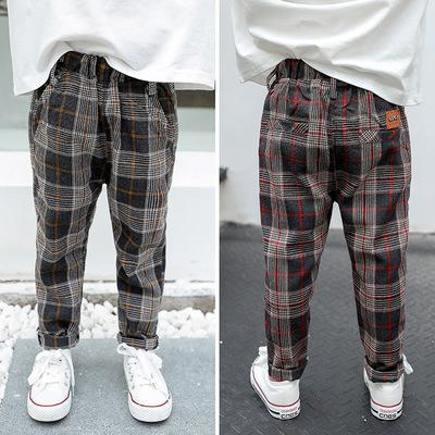 Autumn Baby Pants Casual Newborn Boy High Waist Trousers Autumn Floor Pants Long Cute Baby Black Red Plaid Pant