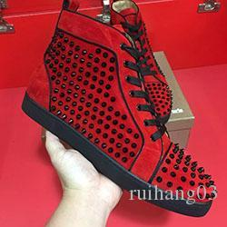 Best Designer Sneakers Studded Spikes Shoes mens trainers Red Bottom mens flat Shoes glitter graffiti Party Wedding Shoes 5colors MK03
