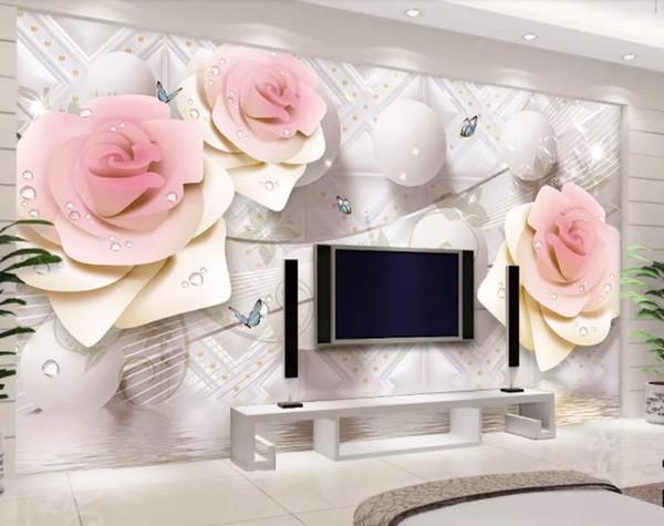 Custom Wallpaper 3d Mural Rose circle Living Room Bedroom kitchen Photo Wallpaper TV Backdrop 3D Wall papers Home Decor