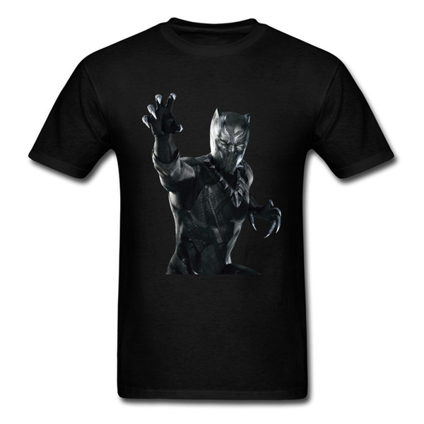2018 New Black Panther T-shirt Men 3D Character Printed Tops Cotton Clothes Crew Neck Tee Shirt Movie Fans Lover T Shirt