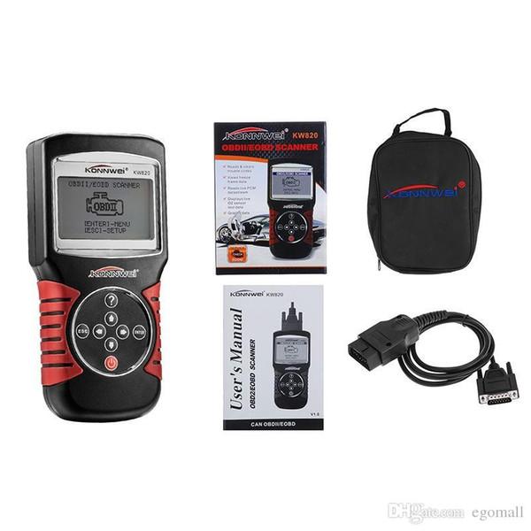 KONNWEI KW820 Car Scanner EOBD OBD2 OBDII Diagnostic Tool Live Code Reader & Scan Tools compliant US, European and Asian vehicle