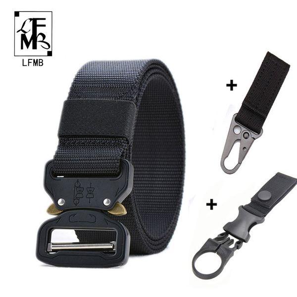 [LFMB]Tactical Belt Set Nylon Outdoor Belts Men Training Belt Metal Tactical Strap Sets Hunting Accessories