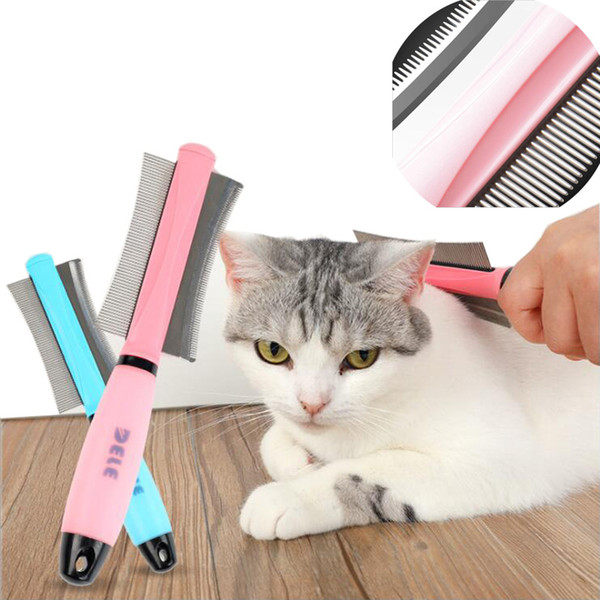 Dog Cat Removal Hairs Comb Brush Fur Shedding Trimming Blue Pink Dual Purpose Pet Grooming Tool Wholesale Pet Supply furmins