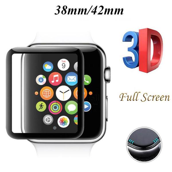 Для Apple Watch iWatch 2 3 4 3D изогнутый край полный экран 38 мм 42 мм 40 мм 44 мм закаленное стекло протектор защитный с розничной упаковке