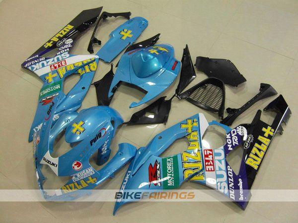 3Gifts Yeni Enjeksiyon Kalıp ABS motosiklet Marangozluk Kitleri Için Fit Suzuki GSXR1000 K5 2005 2006 GSXR1000 05 06 kaporta set fairing mavi serin