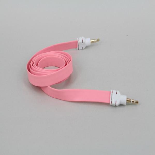 3 5mm public audio wire color noodles flat aux car for the recording line  phone audio