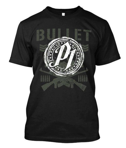 Aj tarzı mermi kulübü - özel erkek siyah t-shirt