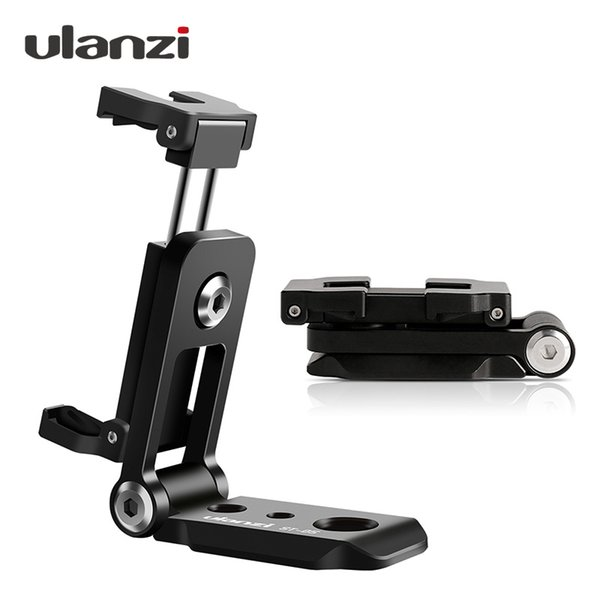 Ulanzi ST 05 Foldable Mount Adapter Phone Clipper Holder Vertical 360 Tripod Stand Quick Release Plate for Tripod Mic Ulanzi ST-05