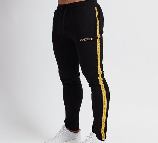 Mens Casual Joggers pantalones largos Deportes funcionamiento del baloncesto pantalones aptitud de costura Sweatpants 2 colores asiática Sizexxloffow