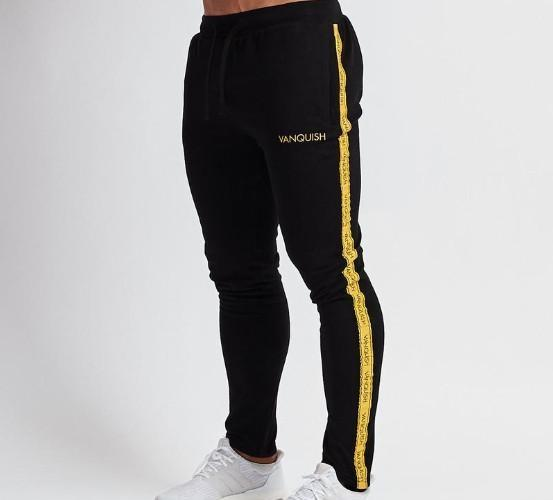 Mens Jogger beiläufige Sport-lange Hosen Basketball Laufen Fitness Pants Stitching Jogginghose 2 Farben Asian Sizexxloffow