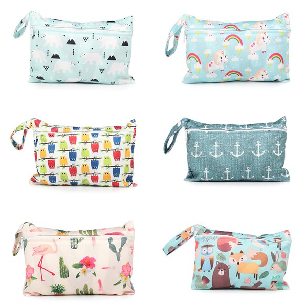 Baby changing bag 20 Types Baby Diaper Bag Infant Travel Nappy Organizer Single Zipper Waterproof Tote Bag with Soft Snap Handle DHL FJ224