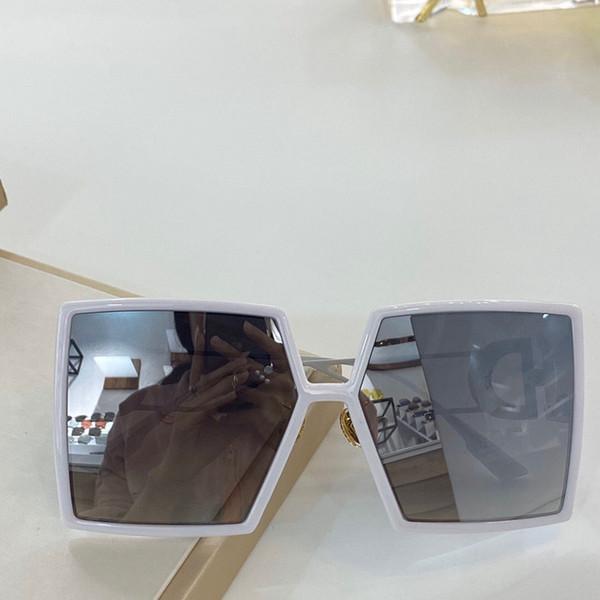 عدسة مرآة فضية بيضاء