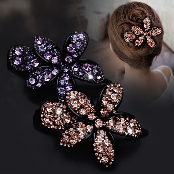New Clamps Hair Jewerly full Diamond Swarovski Vertical Banana Hair Clips Claws Luxury New Design Crystal Quality Clips Free DHL