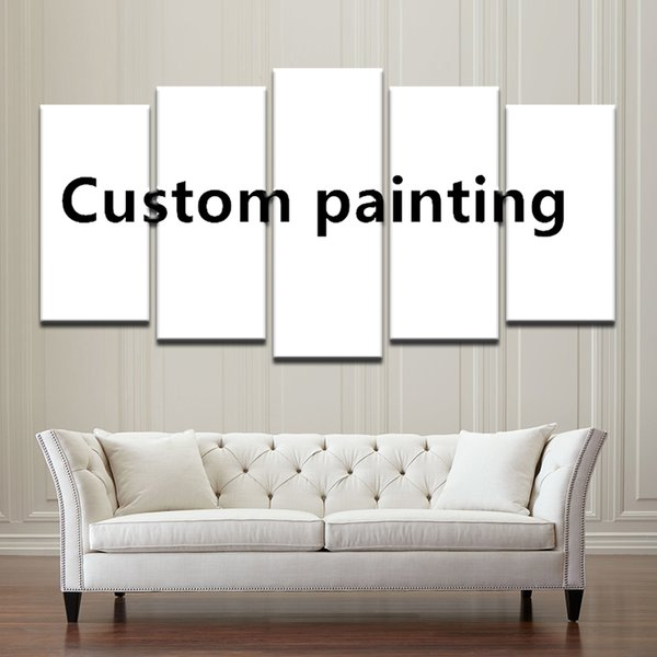 Custom Made Painting Abastract Art Wall Picture 5 Pieces Customized Home Decoration Canvas Prints Drop Shipping