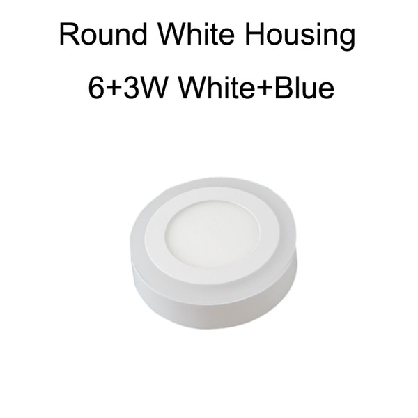 Round White Housing 6+3W White+Blue