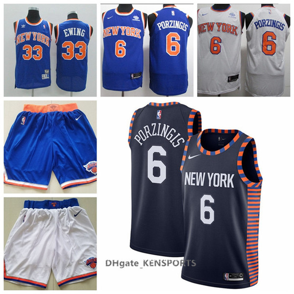 wholesale dealer db022 1a9ab 2019 Newest 2019 New York Basketball Knicks Jersey 6 Kristaps Porzingis #33  Patrick Ewing Stitched Basketball Jerseys White Black Blue From Sagala01,  ...
