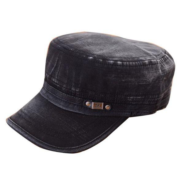 Fashion Men Summer Cadet Cap Adjustable Classic Army Plain Vintage Hat