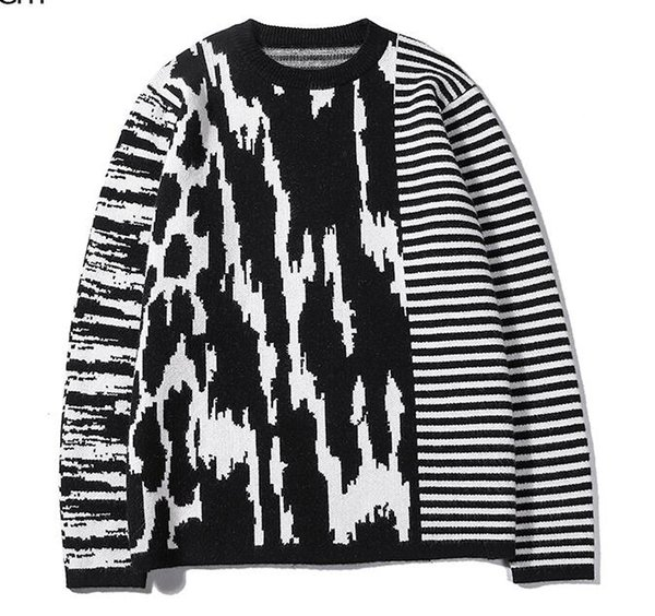 2019 sıcak tişörtü pamuk şerit Triko erkek üstleri boyut M-XXL yüksekliği kalitesini 7896 koşu uzun kollu erkek kadın hoodies kazak vermek